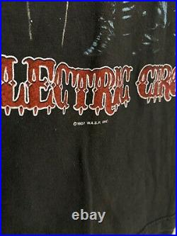 Vintage 1987 WASP The Electric Circus Tour Band Tee Sz S