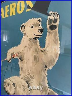 Vintage Aeros Circus Poster