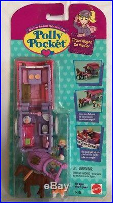 Vintage Bluebird Mattel Polly Pocket Out'N About Circus Wagon On The Go NEW MOC
