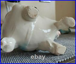 Vintage Brush McCoy Circus Horse & Dog Cookie Jar Pink And Green