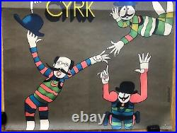 Vintage CYRK Polish circus poster 1970s Marian Stachurski vintage Pop art