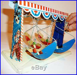 Vintage D. R. P. O Germany Tin Litho SWING BOAT CARNIVAL RIDE / CIRCUS 9-In Long