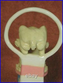 Vintage John Blair Indiana Art Ceramic Sculpture Statue Hound Dog Circus Act