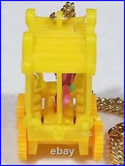 Vintage Mattel Little Kiddles Zoolery Circus Wagon Playful Panther Necklace 1968