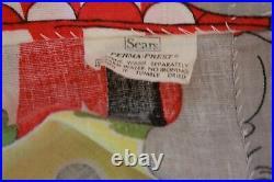 Vintage Mid Century Disney Dumbo Circus Novelty Print Fabric Bed Spread