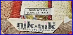 Vintage NIK NIK Disco Shirt Brown & Gold CIRCUS Pattern, Size Medium, Italy