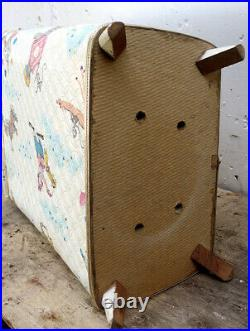 Vintage Old Child's Baby's Nursery Laundry Hamper Storage Chest Bin Can Circus