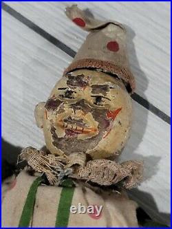 Vintage Original Schoenhut Wood Circus Clown Humpty Dumpty Toy Antique As Found