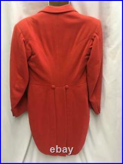 Vintage Red Tailcoat wool ring master circus dinner master speaker 38 chest