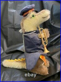 Vintage Steiff Golden Age Circus Band Set Dog, Cat, Crocodile, Bear & Lion