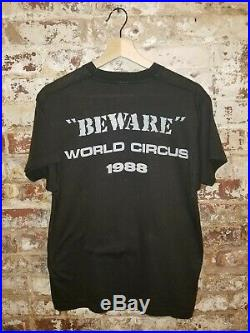 Vintage VTG 1988 Toxik Beware World Circus T-shirt