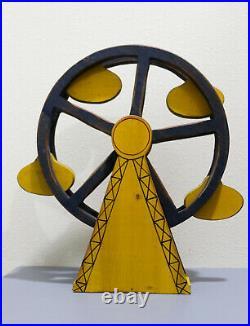 Vintage Wolf Creek Wooden 17-1/2 Circus Ferris Wheel. Eldora, Iowa