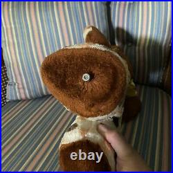 Vintage ideal circus Rubber Face bear plush with music
